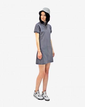 Платье-поло Adress Темно-серое