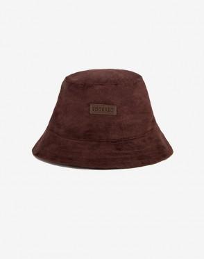 Bucket Hat Brown Suede