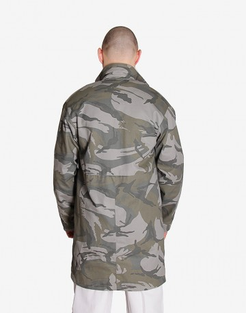 Плащ Mac Coat Серый камуфляж