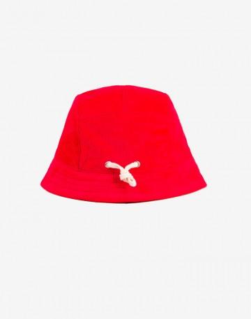 Панама Cue Красный вельвет