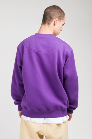 Stripe Crew Сrew-neck Light Violet