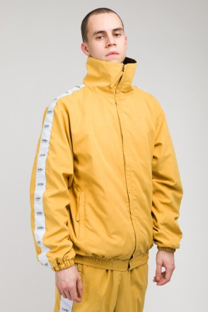 Stripe Track Jacket Mustard