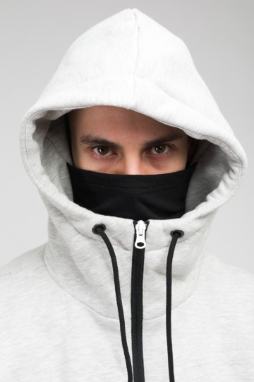 Толстовка The Mask Combo Тепло-Серый Меланж/Алый