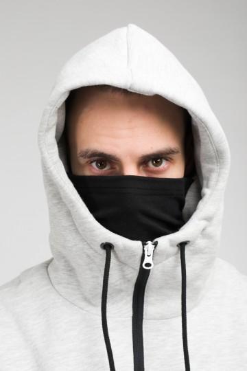 The Mask Combo Hoodie Warm Gray Melange/City Gray