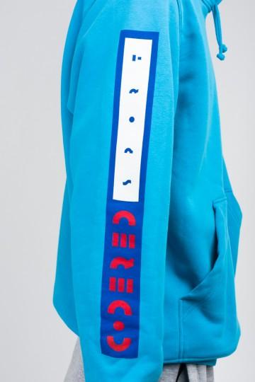 Hood Up Hoodie Sky Blue Afro Inline Sleeves