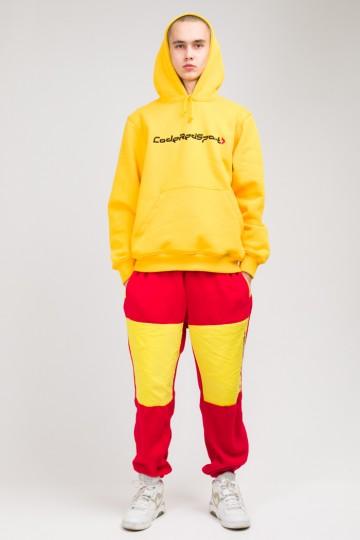 Штаны флисовые Fever Pants Красный флис/Желтый Яркий