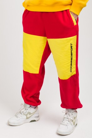 Fever Fleece Pants Red Fleece/Brigth Yellow