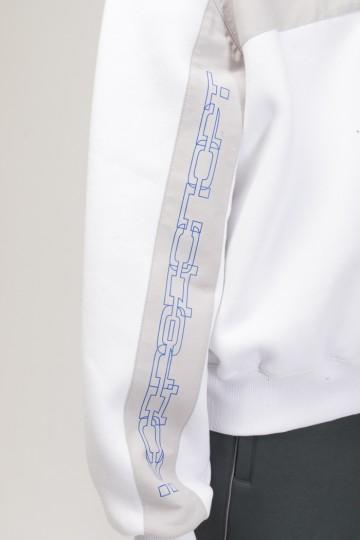 Crewneck Crew-neck White/Gray/Cornflower Blue print КОДРЭДСПОРТ
