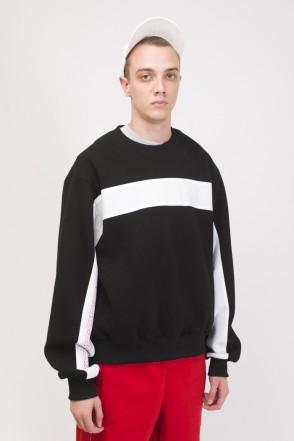 Crewneck Crew-neck Black/White/Red print КОДРЭДСПОРТ