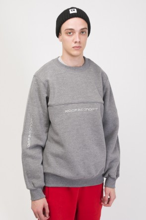 Piping Crew 2000 Crew-neck Dark Gray Melange