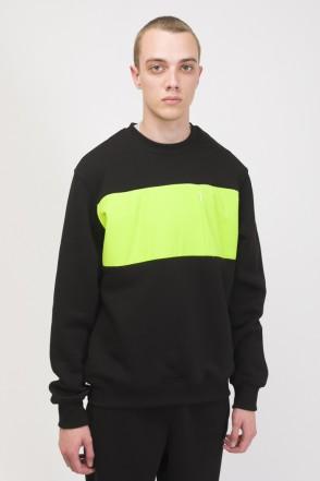 Block Crew-neck Black/Light Lime