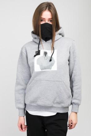 Girl Hoodie Obvious Gray Melange