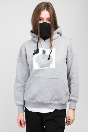 Girl Hoodie Obvious Gray Melange