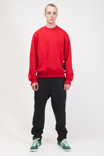 Trace Crew-neck Red/White/Black print CR