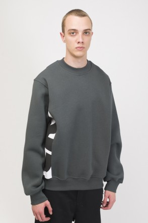 Trace Crew-neck Gray/White/Black print CR