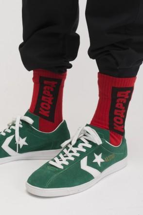 Vertical Cyrillic Socks Red/Black-red Logo