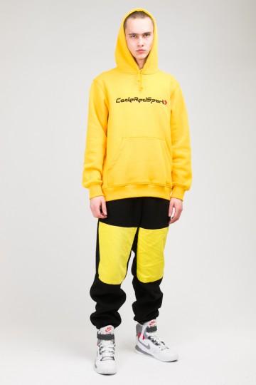 Штаны флисовые Fever Pants Черный флис/Желтый Яркий