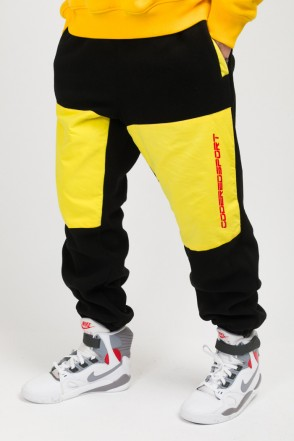Fever Fleece Pants Black/Brigth Yellow