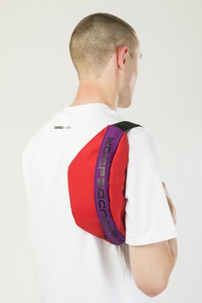 Сумка поясная Space Waist Красный Таслан/Фиолетовый/Черный Принт