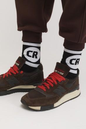 CR Sphere & Line Socks Black/Black-white Logo