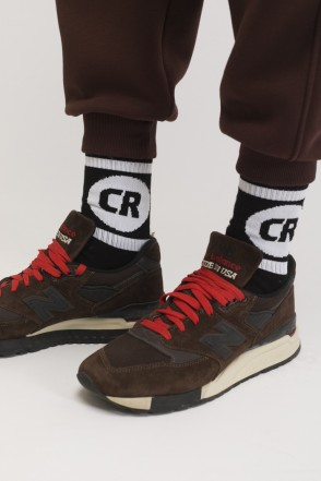 CR Sphere & Line Socks Black/Black-white Logo