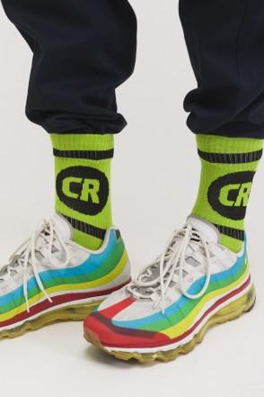 CR Sphere & Line Socks Green/Green-black Logo