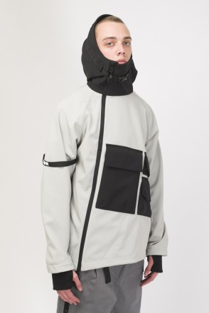 Ank Shell 3 COR Anorak Ash Gray/Black