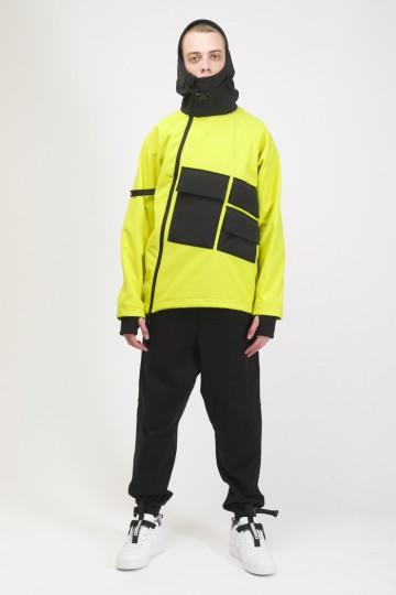 Анорак Ank Shell 3 COR Желтый Яркий/Черный