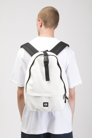 Standart Mini Backpack White Art. Leather