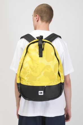 Standart Backpack Yellow Camo/Black Leather