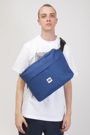 Сумка поясная Big Bag 600 ml Синий Таслан