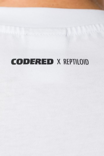 Футболка T+ CODERED x Reptiloid Белый