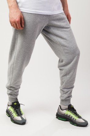 Basic Summer Pants Light Gray Melange