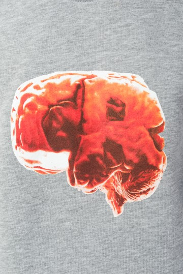 Толстовка-крюнек Firm Summer Crazy Brain Серый Меланж