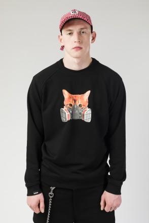 Толстовка-крюнек Firm Summer Respirator Mask Cat Черный
