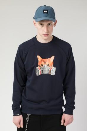 Толстовка-крюнек Firm Summer Respirator Mask Cat Нэви