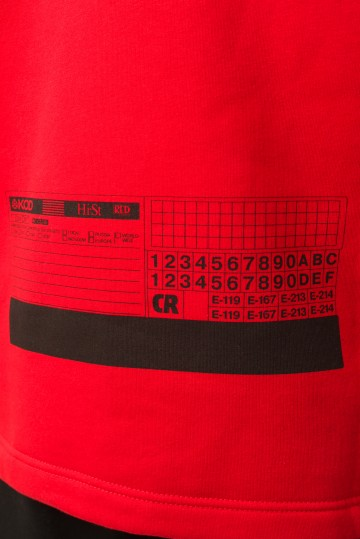 Толстовка Sleeve Красный VHS КОД Р-ЭД 247