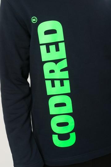 Толстовка Sleeve Нэви Vertical x 2 Logo