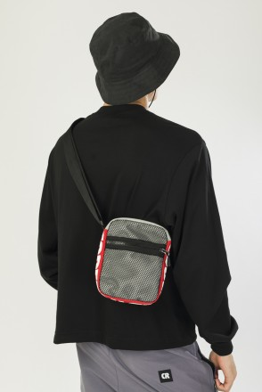 Сумка Recode Серый Светлый Таслан/Красный Таслан
