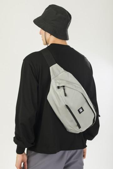 Сумка поясная Hip Bag XXL Серый Светлый Таслан