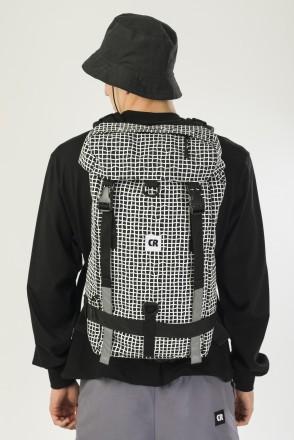 Wildstyle City 2 Backpack Black Taslan/Pattern Bent Grid White