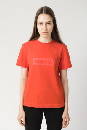 Regular Lady T-shirt Scarlet Tonal Box Latin