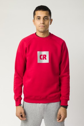 Firm Crew-neck Red CR Cube Logo Reflective