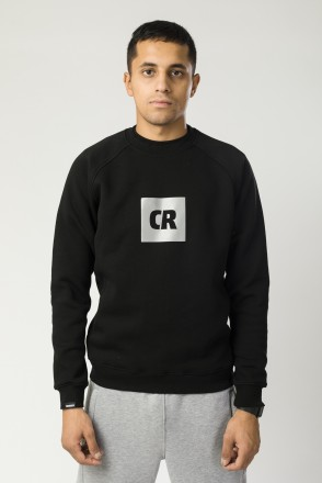 Firm Crew-neck Black CR Cube Logo Reflective