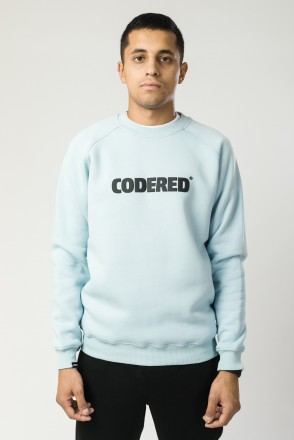 Firm Crew-neck Light Gray-Blue Logo R