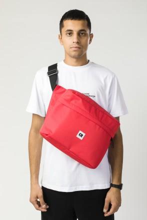 Big Bag 2 600 ml Red Oxford Honeycomb/Black art.Leather