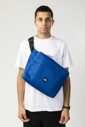 Сумка поясная Big Bag 2 600 ml Синий Соты Оксфорд