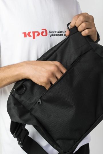 Сумка поясная Big Bag 2 600 ml Черный Соты Оксфорд