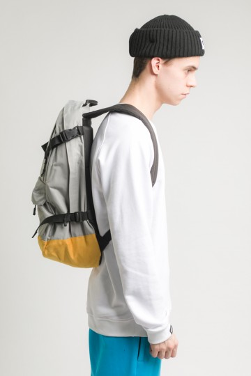 Action Backpack Ash Gray/Mustard Suede