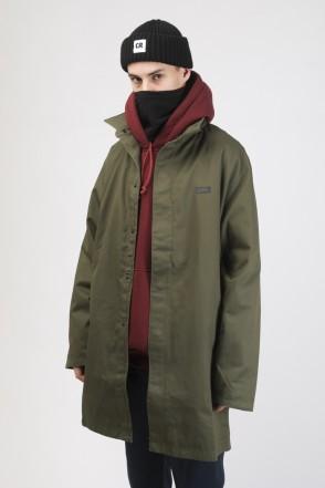 Mac Coat Bog Green Cotton